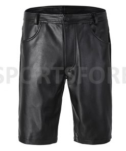 Faux leather boxer shorts