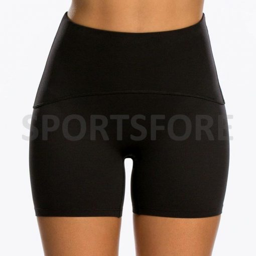 Women Shiny Active Fitness Running Fitted Stretch Shorts