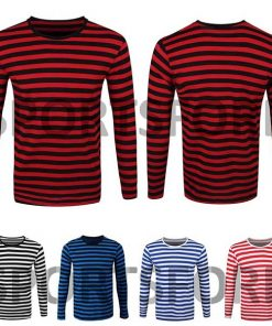 striped long sleeve shirt mens