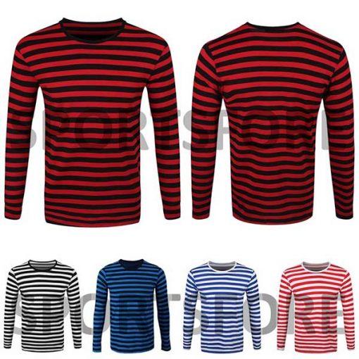 striped long sleeve shirt mens