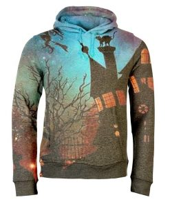 Custom 3D Full-Dye Sublimation Halloween Men Warm Sweatshirt Hoodie Costumes Sportsfore