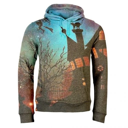 Custom 3D Full-Dye Sublimation Halloween Men Warm Sweatshirt Hoodie Costumes Sportsfore