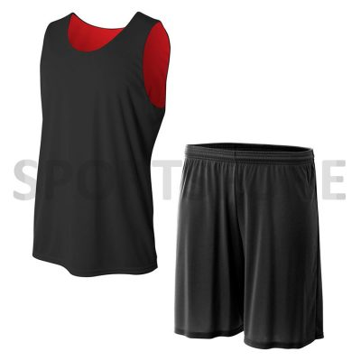Custom reversible basketball jersey uniform set Sportsfore