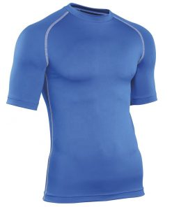 Men short sleeve tight fitted plain blank fitness gym tshirt Sportsfore