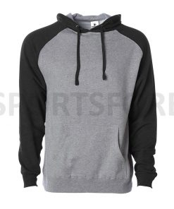 Men Slim Fit Fashion Raglan Sleeve Plain Blank Hooded Pullover Hoodie Sweatshirts Sportsfore