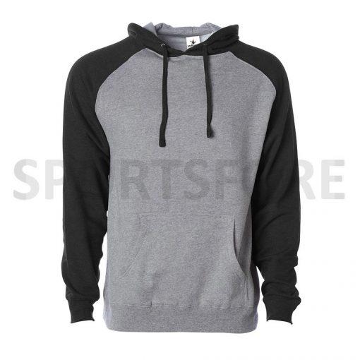 Men Slim Fit Fashion Raglan Sleeve Plain Blank Hooded Pullover Hoodie Sweatshirts Sportsfore