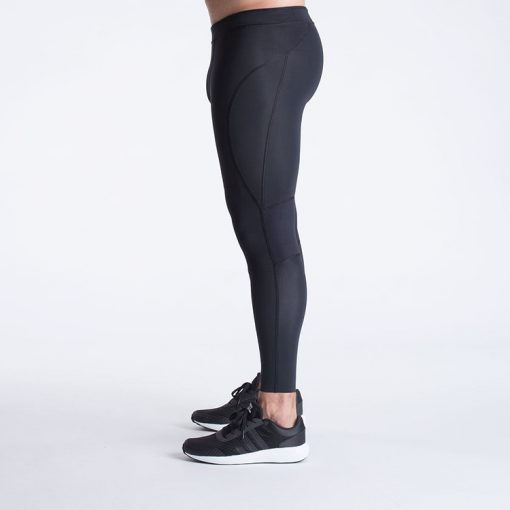Mens Quick Dry Breathable High Waist Gym Fitness Athletic Compression Tights Sportsfore