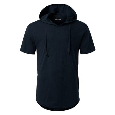 Mens High Fashion Short Sleeve Pullover Plain Blank Hoodies T-shirt