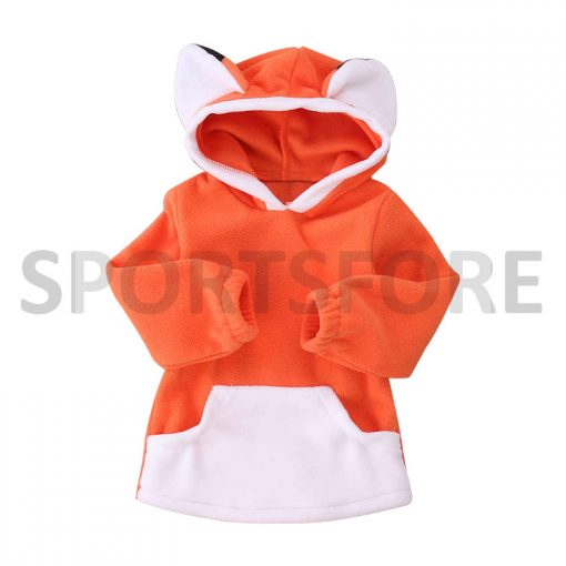 Wholesale Warm Toddler Clothing Baby Girl Boy Fleece Hooded Clothes Winter Long Sleeve Baby hoodie Bodysuit Sportsfore