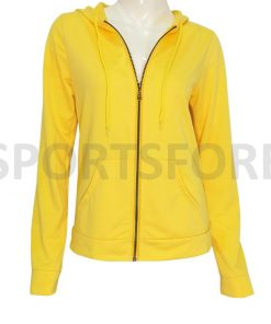 Winter Fashion Zip up Plain Blank Zipper Hoodies Sweatshirt for Women Sportsfore