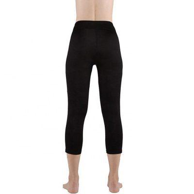 Women Fitness Polyester Spandex Workout Side Panel Stripe Squat Proof Black Leggings Sportsfore