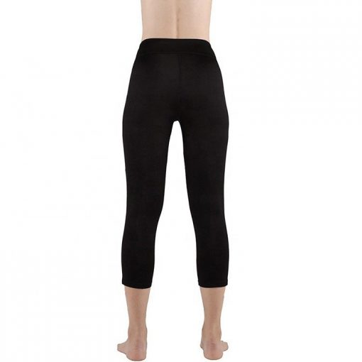 Women Fitness Polyester Spandex Workout Side Panel Stripe Squat Proof Black Leggings Sportsfore