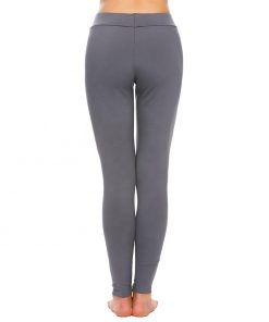 Women Solid Plain Thermal Sleepwear Pyjamas Leggings Pant Sportsfore