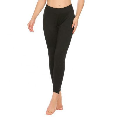 Women Solid Plain Thermal Sleepwear Pyjamas Leggings Pant Sportsfore
