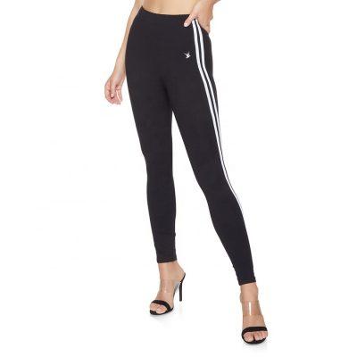 Women Sports Fitness Workout Side Stripe Leggings Pants Sportsfore