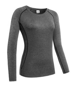 Women quick dry compression long sleeve sports gym running fitness t shirt Sportsfore