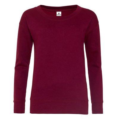ens Fashion Longline Slim Fit Plain Crewneck Fitted Sweatshirts Sportsfore