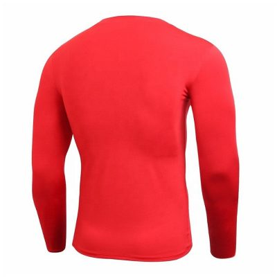 Mens quick dry fitness compression long sleeve muscle fit gym t shirt Sportsfore