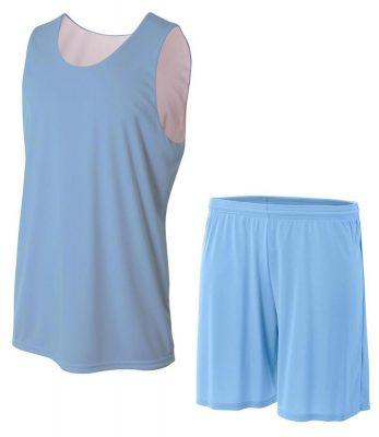 Custom design cheap blank college mesh reversible basketball jerseys uniforms Sportsfore