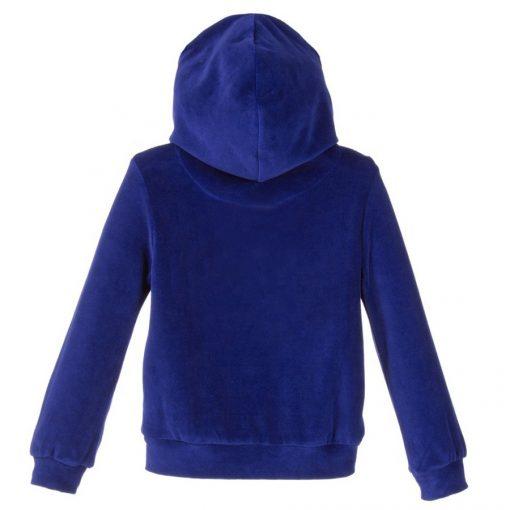 Custom Blue Velour Velvet Tracksuits for Women Sportsfore