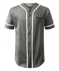 Custom Cheap Button Down Blank Fashion Baseball Jersey with Pocket Sportsfore