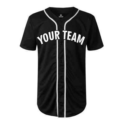 Custom Cheap Wholesale Stylish Button Down Embroidered Baseball Team V Neck Jersey Sportsfore