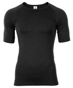 Unisex Dry Fit Sports Fitness Plain Blank Black Men Women Compression Gym T shirts Sportsfore
