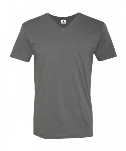 Mens Fitted Short Sleeve Plain Blank v Neck Custom T shirt Sportsfore