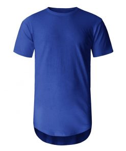 Men Longline Crew Neck Short Sleeve T-shirt Sportsfore