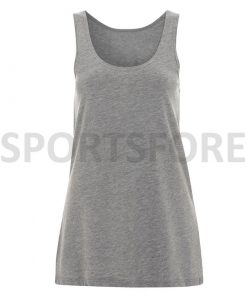Latest Fashion Trend Loose Fit Long Body Sleeveless Tank Tops for Womens Sportsfore