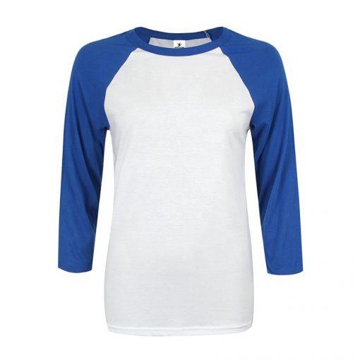 Wholesale Women Raglan 3/4 Sleeve Baseball T shirt Sportsfore