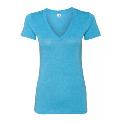 Womens Plain Blank Deep V Neck T shirts Sportsfore