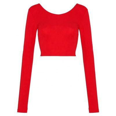 Latest Fashion Trendy Blank Long Sleeve Thumb Hole Plain Crop Tops for Women Sportsfore
