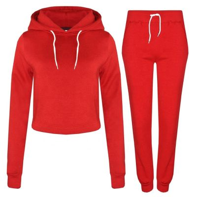 New Fashion Sports Training Jogging Crop Tracksuits Tops Jogger for Girls Sportsfore