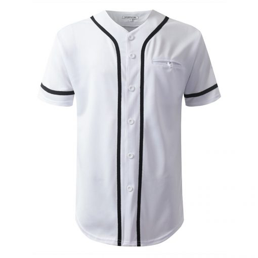 Wholesale Custom Fashion Button Down Baseball Jersey Uniform Sportsfore