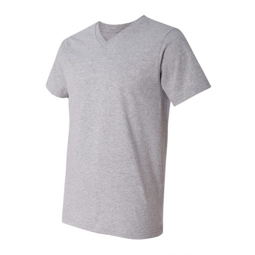 Mens Lightweight Plain Blank V-neck Short Sleeve Cotton Tshirt Sportsfore