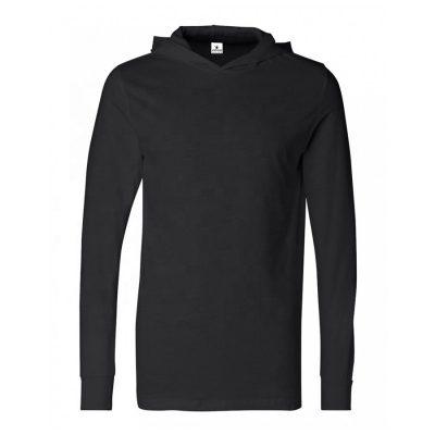 Unisex Long Sleeve Plain Blank Hooded Tshirt Sportsfore