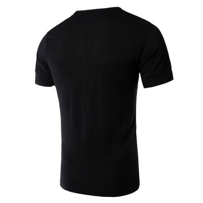 Men's New Fashion Trend Short Sleeve V Neck T-shirts Sportsfore