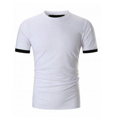 Men's Custom New Casual Fashion Trendy Gym Fitness Short Sleeve White T-shirts Sportsfore