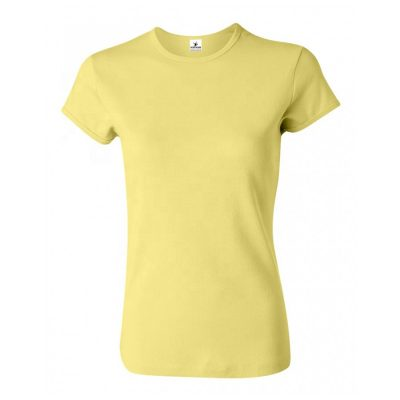 Women Fashion Trendy Fitted Crew Neck Blank Plain White Cotton Tee T shirts Sportsfore