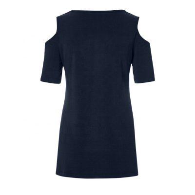 Women Fashion Trend Keyhole Cut Blouse Long Sleeve Tops Sportsfore
