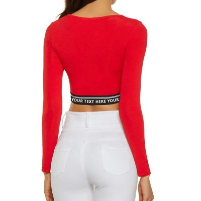 Custom Your Brand Workout Crop Top Tees Sportsfore