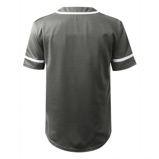 Custom Cheap Button Down Blank Fashion Baseball Jersey with Pocket Sportsfore