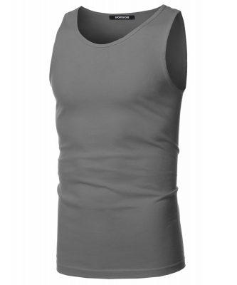 Men's Sleeveless Round Neck Fitness Ggym Workout Plain Blank T shirt Sportsfore