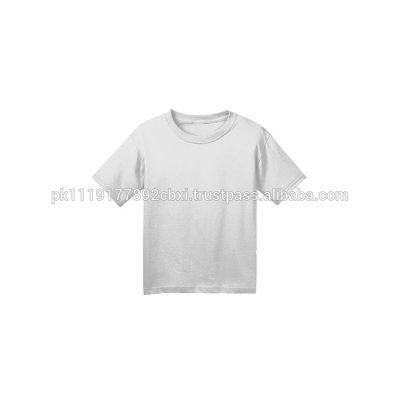 Kids Boys Girls Short sleeve Crewneck Plain Blank Cotton T shirts Sportsfore