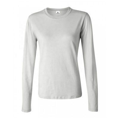 Women Dry Fit Crew Neck Plain Cotton Long Sleeve T shirt Sportsfore