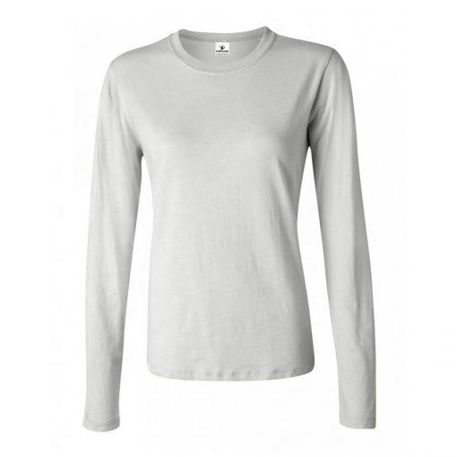 Women Crew Neck Plain Long Sleeve Tshirts Sportsfore