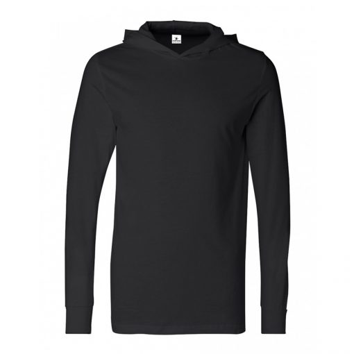 Unisex Long Sleeve Blank Plain Hooded T shirts Sportsfore