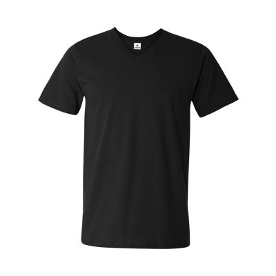 Mens Lightweight Plain Blank V-neck Short Sleeve Cotton Tshirt Sportsfore