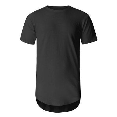Men Longline Crew Neck Short Sleeve T-shirt Sportsfore